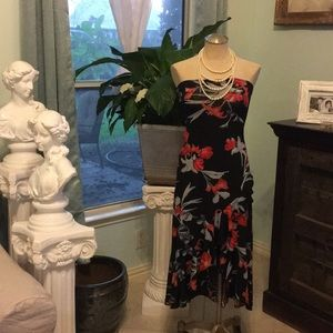 Strapless floral dress size: 7/8